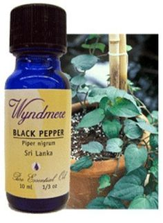 Black Pepper Essential Oil by Wyndmere. $10.59. Pure therapeutic essential oils. Black pepper: Piper Nigrum. 10 ml (1/3 fl. oz). Recommended Use : Because essential oils are highly concentrated, they need to be used with care. Apply them by the drop. The general rule is to dilute them with carrier oils such as jojoba, sweet almond, or grape seed when used on the skin. Personal Care Bath: - Add no more than 8-10 drops to your bath. Use less if your skin is sensi...