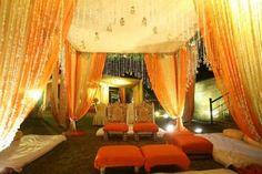 outdoor decor, arabic themed decor, dim light decor, mehendi decor