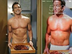What's That I Hear Sizzling? Oh, Just Jeff Probst's Naked Body And A Plate Of Bacon On 'Two And A Half Men' - Socialite Life