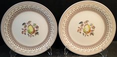Johnson Brothers Old Granite Fruit Sampler Dinner Plates Older Version Set of 2 Excellent