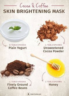 DIY Cocoa and Coffee Skin Brightening Mask - 14 Best DIY Skin Brightening (Whitening) Products that Give Miraculous Results