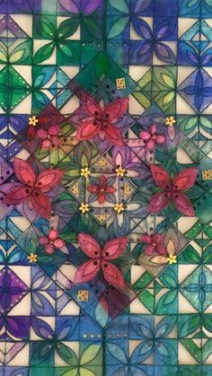 Melting Glass, Fibre Art, Cutwork, Textile Artists, Fused Glass, Sage, Embellishments, Stitching, Mixed Media
