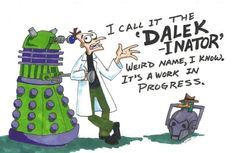 Phinese and Ferb meets Dr. Who
