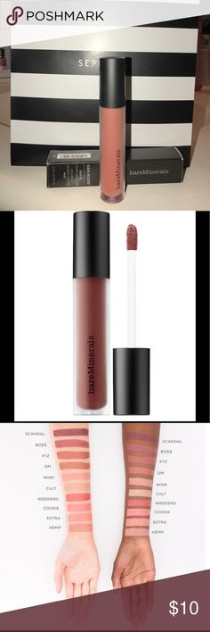 Matte Liquid LipColor bareMinerals GEN NUDE. Matte LIQUID LIPCOLOR. bareMinerals. I've have not used this product on my lips, I did OPEN it. Did not swatch. I opened it, and realized I didn't like the color. bareMinerals Makeup Lipstick