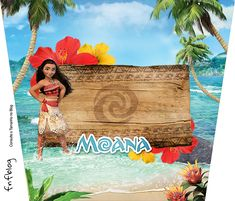 Moana: Etiquetas para Candy Bar para Imprimir Gratis.