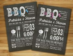 Baby shower invitation - boy girl baby shower BBQ barbecue invite- DIY barbecue couples shower gender neutral printable. $18.00, via Etsy.