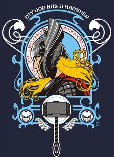 GOD OF THUNDER - T SHIRT ART by AdamsPinto.deviantart.com on @deviantART