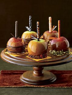 Autumn's arrival inspires a return to the comforts of cooking and baking. The warmth and aromas wafting from the oven draw family to the kitchen, a reward to savor long after the last slice of cake is gone. Recipe: Caramel Apples   - TownandCountryMag.com