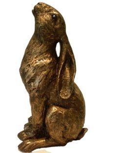 MOON GAZING HARE Bronze Art Sculpture NEW by Figurnes-Gifts UK, http://www.amazon.co.uk/dp/B00CYHX5EU/ref=cm_sw_r_pi_dp_kb6isb079E96F
