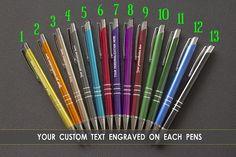 Personalized pens engraved metallic custom laser engraved