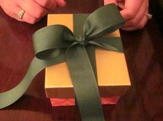 How to tie a Tiffany-style bow on any package -- looks great under the tree!