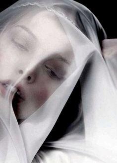 "Tanya Dziahileva in ""Ave Maria"" for Harper's Bazaar Russia, photographed by Danil Golovkin ~ VoyageVisuelle ✿⊱╮"
