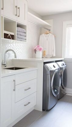 "Excellent ""laundry room storage diy small"" information is offered on our internet site. Have a look and you wont be sorry you did. Room Makeover, Room Design, Home, Laundry Room Tile, Mudroom Laundry Room, Room Storage Diy, Room Tiles Design"