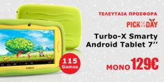 "Turbo-X Smarty Android Tablet 7"" #Plaisio #DailyOffer"