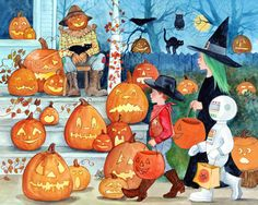 Jack-o'-Lanterns Jigsaw Puzzle | Halloween & Fall | Vermont Christmas Co. VT Holiday Gift Shop
