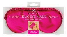 Aroma Home Silk Eye Mask, Pink