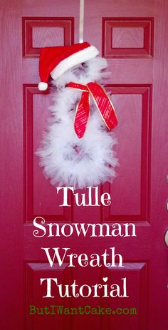 snowman wreath #tutorial