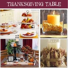 Thanksgiving Day Table- 24 ideas for table decor