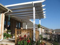 Vinyl Shade Structure.  Future Outdoors 972-576-1600.  Call for an estimate and let us explain how it is built to last a lifetime!