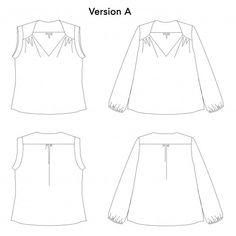 Blouse/Robe Suùn Diy Blouse, Blouse Dress, Sewing Clothes Women, Diy Vetement, Straight Skirt, Teal Colors, Top Pattern, Formal Wear, Dressmaking