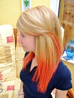 blonde and orange...Never thought about this but hey it looks pretty cool