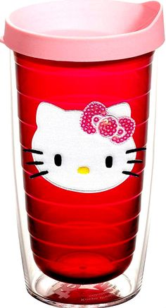 NEW! Hello Kitty Tervis! Insulated 16-Ounce Tumbler! SUPER RARE! Patch Design!