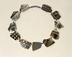 "Suzan Rezac: ""Archeologia Mundi vol. III"". Necklace. Silver, shakudo, 18K gold, shibuichi, copper, brass, bronze."