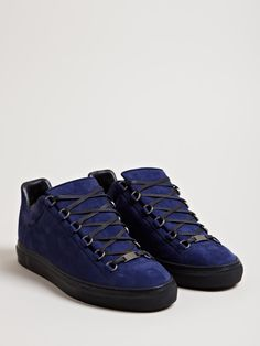 Balenciaga Men's Arena Trainers - Midnight Blue