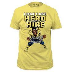 Luke Cage Hero for Hire Yellow T-Shirt