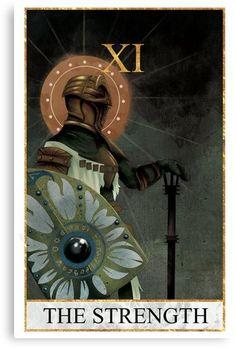 'Tarot - The Strength' Canvas Print by Strength Tarot, Arte Dark Souls, Borderlands Art, Tarot Major Arcana, Card Book, Bloodborne, Soul Art, Berserk, Character Reference