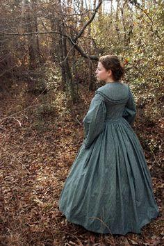 Civil War Day Dress Costume Reenactment by garlandofgrace on Etsy