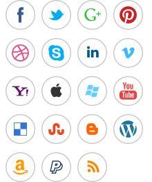 Free Retina Social Media  Vector Icons