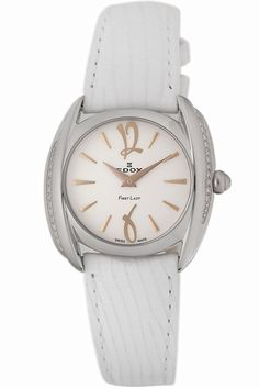 Edox Women's 21230 3D AIR First Lady Leather Diamond Watch *** Find out more details by clicking the image