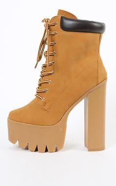 platform timberland heels