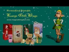 Making a Large Christmas Gift Bag - YouTube