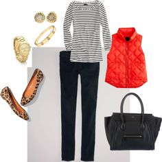 """stripes,red, and leopard"" by iteach on Polyvore"