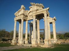 """Ancient Aphrodisias""""Tetrapylon"""" It was the monumental gateway which greeted pilgrims when they approached the Temple of Aphrodite."""