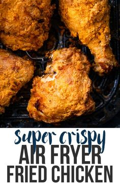 Best air fryer chicken wings you need to try as part of your weight loss goals. Air fryer recips are one of the best ways to start a healthy diet. Air Fryer Fried Chicken, Making Fried Chicken, Air Fried Food, Air Fryer Recipes Chicken Thighs, Air Fryer Chicken Tenders, Air Fryer Chicken Wings, Easy Fried Chicken Recipe, Pressure Cooker Fried Chicken, Fried Chicken Marinade