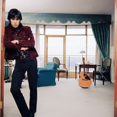 """""""Keith Richards at Home I London 1965 Bent Rej"""" 19.7 x 19.7 in (50 x 50 cm)""""…"""