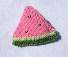 Hall's 7th Heaven: Watermelon Slice Knitting Pattern
