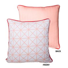 Meridian Reversible Cushion - Coral