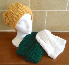 Slouchy Beanie XLong  Slouchy Hat  Cabled  by SkeinsOfAnarchy