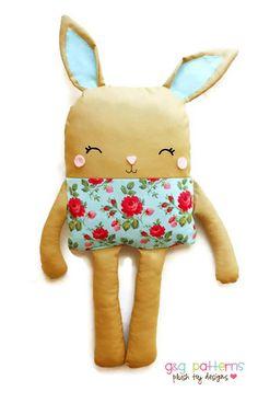 Bunny PDF Sewing Pattern Bunny Doll Softie Toy by GandGPatterns BUY