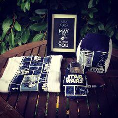 Star wars set .burp cloth baby dice  baby by lunaimpressionsshop