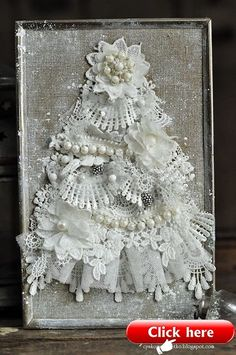 Design U.) 2019 Lace Christmas tree The post Lace Christmas tree (Noor! Design U.) 2019 appeared first on Lace Diy. Lace Christmas Tree, Jewelry Christmas Tree, Shabby Chic Christmas, Jewelry Tree, Christmas Art, Vintage Christmas, Christmas Ornaments, Victorian Christmas Tree, Diy Ornaments