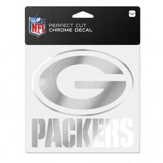 Green Bay Packers 6x6 Perfect Cut Decal - Chrome (backorder)