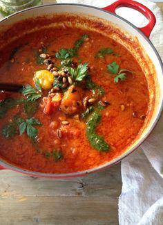 Tomato Roasted Pepper Soup Recipe | CiaoFlorentina.com @CiaoFlorentina