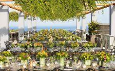 FLERIA flowers | wedding in Mykonos, summer 2016. Table decoration. Colorful, wild flowers inspiration.