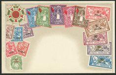 Zanzibar Stamps on Postcard