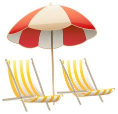 beach chair clip art, beach umbrella graphic | places i want to go